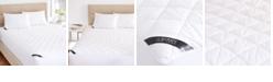 J Queen New York Regal 233 Thread Count Cotton Top Allergen Barrier Waterproof Mattress Pad - Queen
