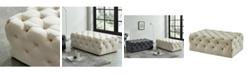 Furniture of America PendleTon IV Beige Tufted OtToman