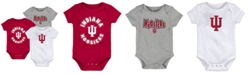 Outerstuff Baby Indiana Hoosiers Everyday Fan 3 Piece Creeper Set