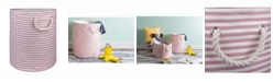 Design Imports Paper Bin Pinstripe, Round