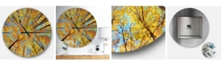Design Art Designart Oversized Forest Round Metal Wall Clock