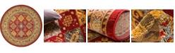 Bridgeport Home Harik Har2 Red 8' x 8' Round Area Rug