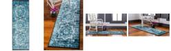 Bridgeport Home Linport Lin7 Turquoise 2' x 6' Runner Area Rug