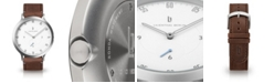 Lilienthal Berlin L1 Standard White Dial Silver Case Leather Watch 42mm
