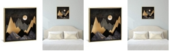 """iCanvas Metallic Night by Spacefrog Designs Gallery-Wrapped Canvas Print - 18"""" x 18"""" x 0.75"""""""
