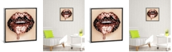 """iCanvas Rose Gold Melting Carat by Vlada Haggerty Gallery-Wrapped Canvas Print - 18"""" x 18"""" x 0.75"""""""