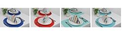 Design Imports Basic Primary Saturated Stripe Napkin, Set of 6