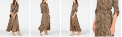 INC International Concepts INC Animal-Print Shirtdress, Created for Macy's
