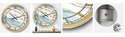 Designart Posh and Lux Oversized Metal Wall Clock