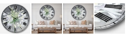 Designart Traditional Floral Oversized Metal Wall Clock