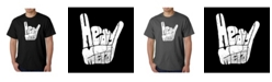 LA Pop Art Men's Word Art T-Shirt - Heavy Metal