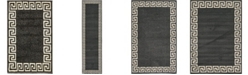 Bridgeport Home Anzu Anz2 Charcoal Area Rug Collection