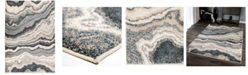 """Palmetto Living Mystical Cascade Taupe Inkwell 5'3"""" x 7'6"""" Area Rug"""