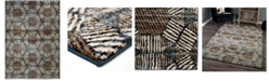 "Palmetto Living Adagio Textured Penny Blue 7'8"" x 10'10"" Area Rug"