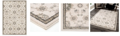 "Palmetto Living Riverstone Manor Sarouk Soft White 6'7"" x 9'6""  Area Rug"