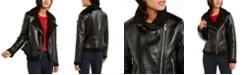 Tommy Hilfiger Faux-Fur Trimmed Moto Jacket