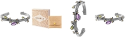 DEVATA Multi-Gemstone (3-1/4 ct. t.w.) Sweet Dragonfly Root Tree Cuff Bracelet in Sterling Silver and 18k Yellow Gold