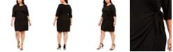 Robbie Bee Plus Size Glitter Knit Sarong Dress