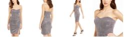 Teeze Me Juniors' Glitter Strapless Dress