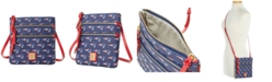 Dooney & Bourke New England Patriots Saffiano Triple Zip Crossbody