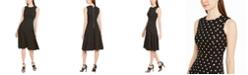 Calvin Klein Polka-Dot Fit & Flare Dress