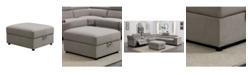 Furniture of America Nansten Storage Ottoman