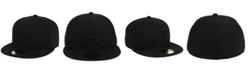 New Era Alabama Crimson Tide Core Black on Black 59FIFTY Fitted Cap