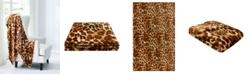 "Juicy Couture Regent Leopard 50"" x 70"" Plush Throw"