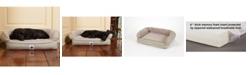3 Dog Pet Supply Ez Wash Fleece Headrest Memory Foam Dog Bed, Medium