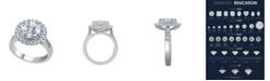Macy's Diamond (2 ct. t.w.)  Cluster Halo Ring in 14K White Gold