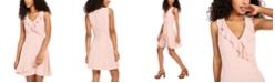 Teeze Me Juniors' Ruffled Fit & Flare Dress