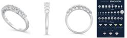 Macy's Certified Diamond (3/4 ct. t.w.) Anniversary Band in 14K White Gold