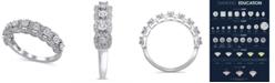Macy's Certified Diamond (1/2 ct. t.w.) Anniversary Ring in 14K White Gold
