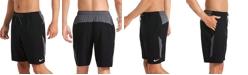 "Nike Men's Contend Water-Repellent Colorblocked 9"" Swim Trunks"
