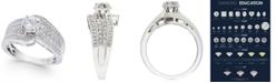 Macy's Diamond Wide Swirl Engagement Ring (1 ct. t.w.) in 14k White Gold