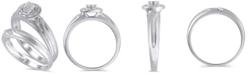 Macy's Certified Diamond (1/20 ct. t.w.) Bridal Set in 14K White Gold