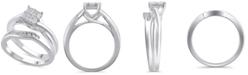 Macy's Certified Diamond (5/8 ct. t.w.) Bridal Set in 14K White Gold