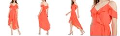 BCX Juniors' Ruffled High-Low Dress
