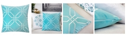 Homey Cozy Jade Embroidery Square Decorative Throw Pillow