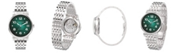 Grayton Women's Radiance Collection Silver Tone Stainless Steel Bracelet Watch 36mm