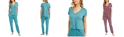 Alfani T-Shirt & Jogger Pajama Separates Collection, Created for Macy's