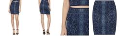 BCBGMAXAZRIA Snake-Embossed Jacquard-Knit Bodycon Skirt