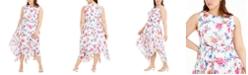 Calvin Klein Plus Size Floral-Print Midi Dress