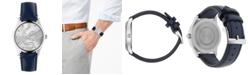 Gucci Men's Swiss G-Timeless Blue Calfskin Leather Strap Watch 38mm