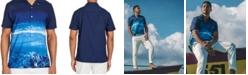 Brooklyn Brigade Men's Slim-Fit Performance Stretch Scuba Short Sleeve Camp Shirt