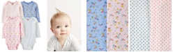 Carter's Baby Girls 4-Pk. Printed Cotton Long Sleeve Bodysuits