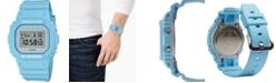 G-Shock Men's Digital Pastel Blue Resin Strap Watch 42.8mm