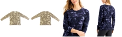 Style & Co Camo-Print Pullover Sweater, Created for Macy's