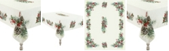"""Laural Home Winter Garland Tablecloth -70""""x 84"""""""