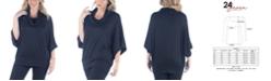 24seven Comfort Apparel Women's Plus Size Oversized Cowl Neck Tunic Top